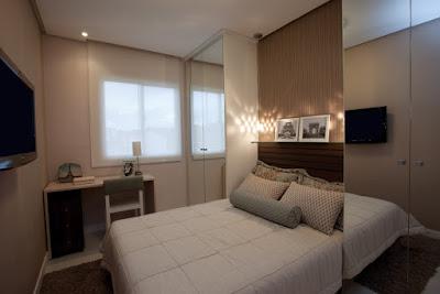 Ideias lindas para quartos pequenos de casal