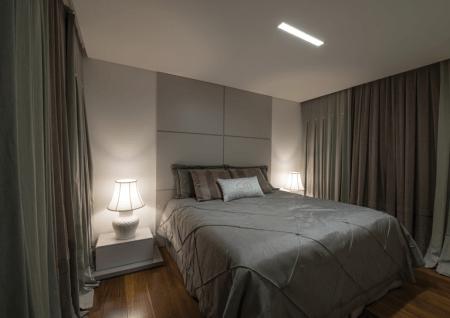 Como decorar quarto de casal pequeno cinza