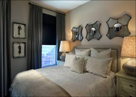 Fotos de quarto de casal pequeno decorado diferente