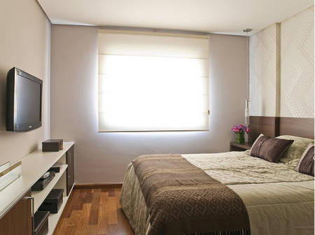 Roupa de cama para quarto de casal pequeno