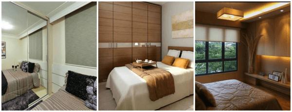 Truques de decoração clean para quartos de casal pequenos