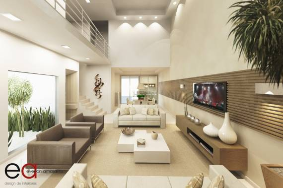 Projetos de lofts clean modernos