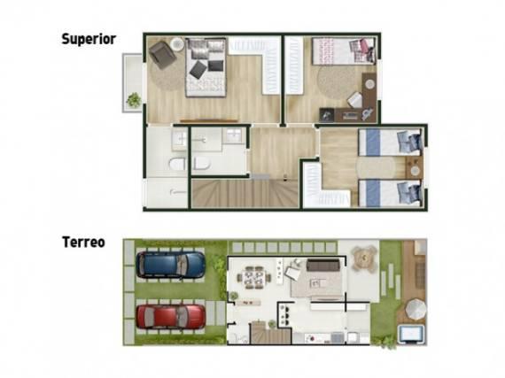 Sobrados modernos de dois andares para familias pequenas