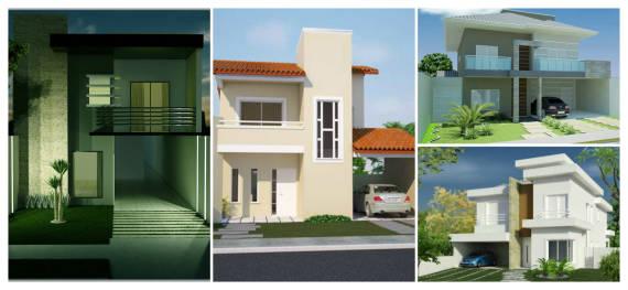 Sobrado moderno dicas 50 fachadas lindas plantas e for Diseno apartamentos duplex pequenos