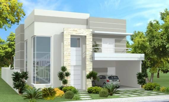 Fachada de casas clean - duplex