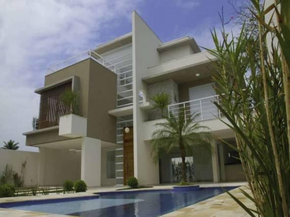 Sobrado moderno dicas 50 fachadas lindas plantas e for Cores modernas para fachadas de casas 2016