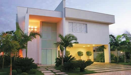 Arquitetura moderna - sobrados e paisagismo