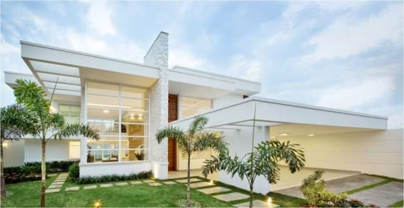 Sobrado moderno dicas 50 fachadas lindas plantas e for 30 fachadas de casas modernas dos sonhos