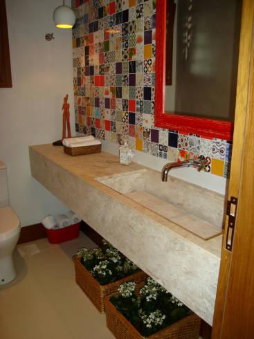 Cimento queimado - cores e dicas para banheiros e lavabos