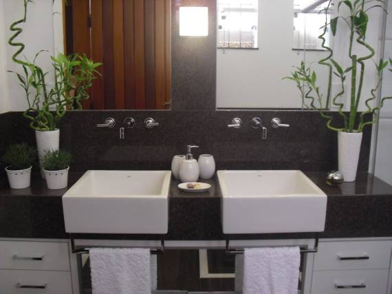 TIPOS E CORES DE GRANITO Nomes, Preços e Fotos! -> Cuba Banheiro Marrom