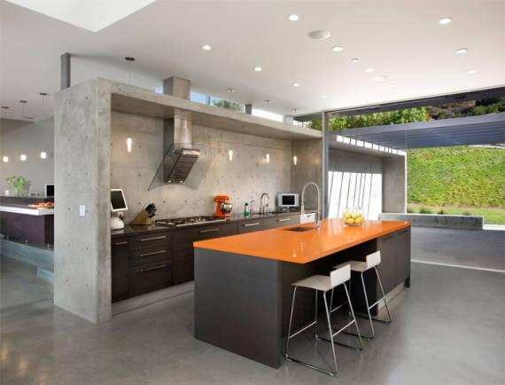 Fotos de cozinhas modernas com Cimento queimado