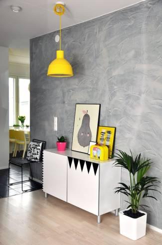 Fotos de Cimento queimado com pó de marmore na parede