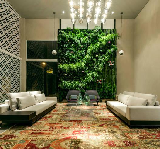 Imagens de salas com Pé direito duplo e plantas