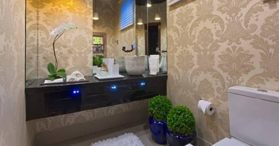 Dicas de papel de parede arabesco para lavabo