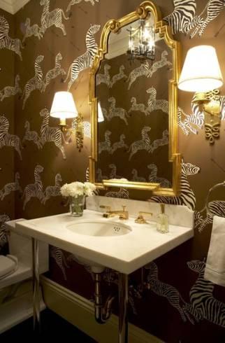 Dicas de papeis de parede de lavabo divertido