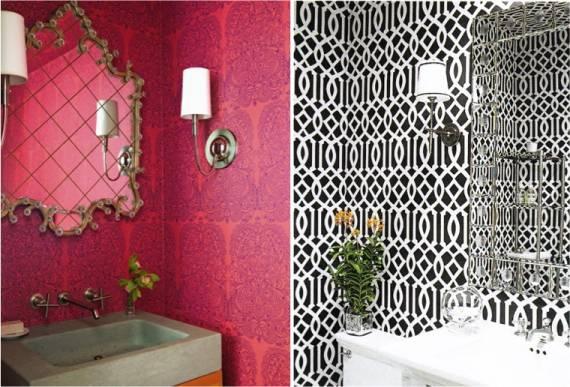 Como decorar um lavabo com papel de parede passo a passo