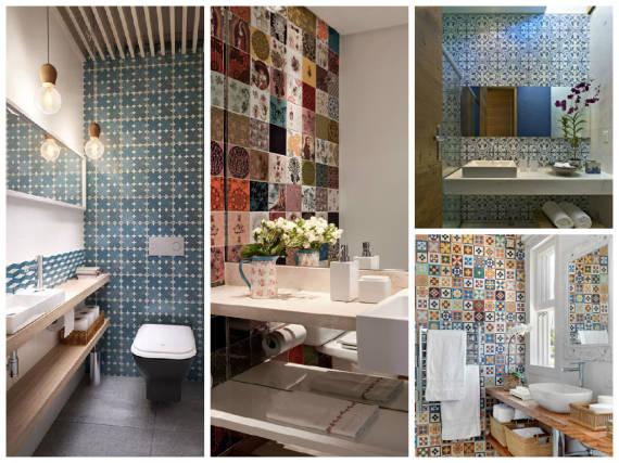 Ideias de papeis de parede para lavabos