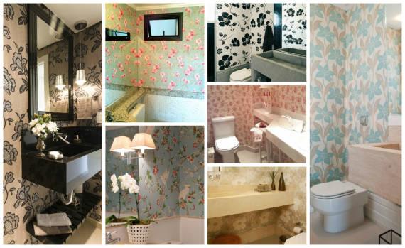 Fotos de papel de parede florido para lavabo