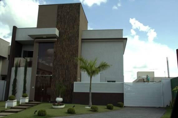 Pedras decorativas ideias para fachadas e paredes for Pinturas de casas modernas