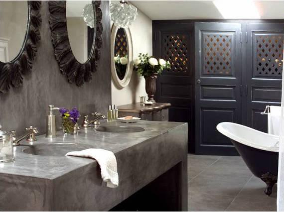 Imagens de banheiros com bancada de Cimento queimado