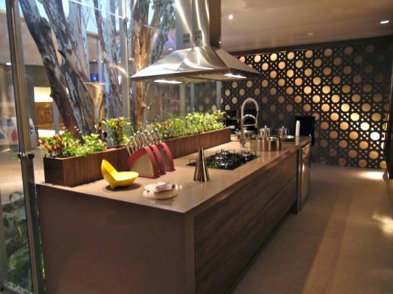 Fotos de cozinhas com piso de Cimento queimado