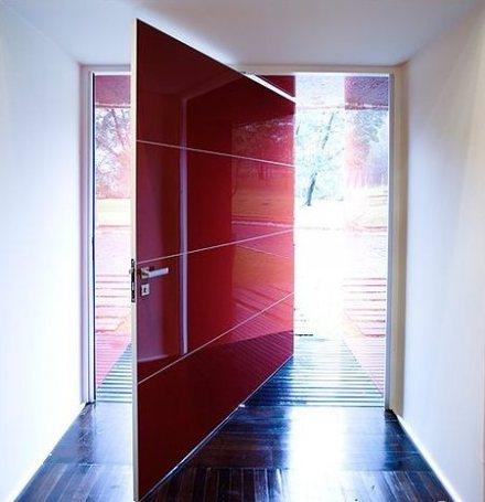Onde comprar Porta pivotante completa vermelha