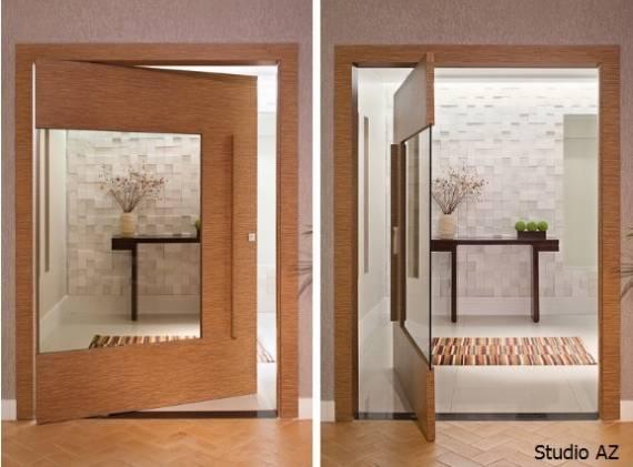 Dicas de porta pivotante ideal para decoração clean moderna