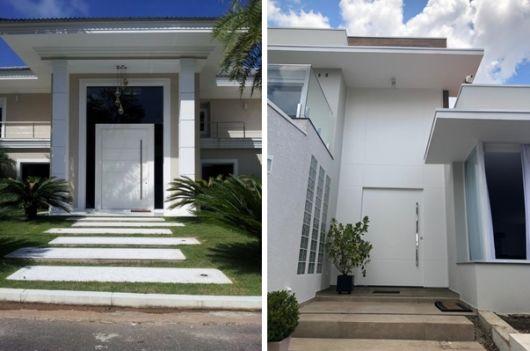 modelos de porta pivotante branca