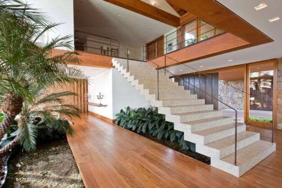Fotos de escada com granito branco itaunas e siena