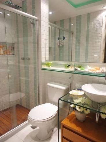 Ideias de materiais para bancada de banheiro - vidro