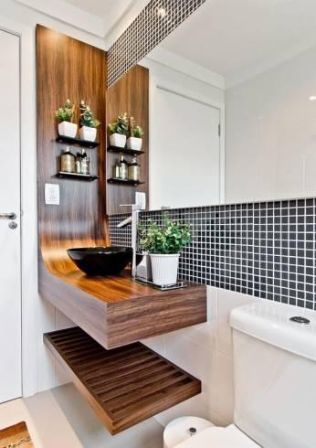 Dicas de bancadas de madeira moderna para banheiro - cuidados