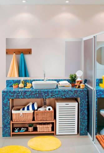 Dicas de cores para bancada de banheiro infantil masculino
