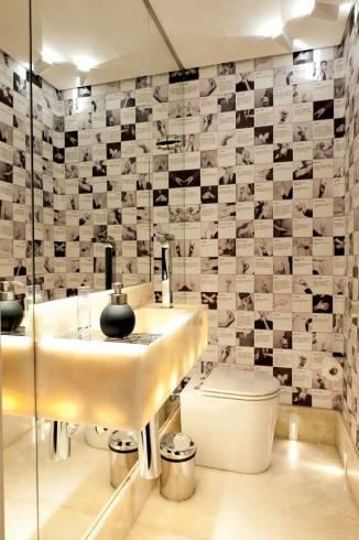 Fotos de banheiros com bancada de onix iluminado