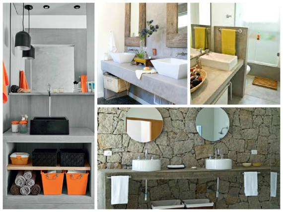 BANCADA PARA BANHEIRO Veja 12 materiais e cores! -> Como Fazer Pia De Banheiro De Alvenaria