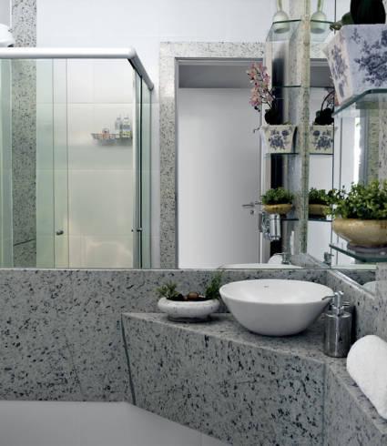 Bancada de granito para banheiro pequeno - dicas e fotos