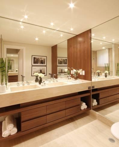 Fotos de bancadas de banheiro em mármore