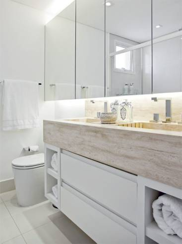 Dicas de marmores para bancada de banheiro clean