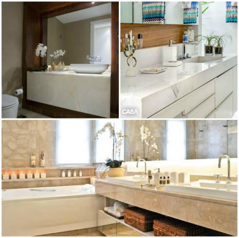 Dicas de modelos de bancadas de marmore para banheiro