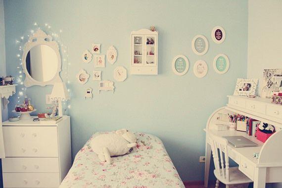 Dicas de decoração provençal para quarto feminino azul