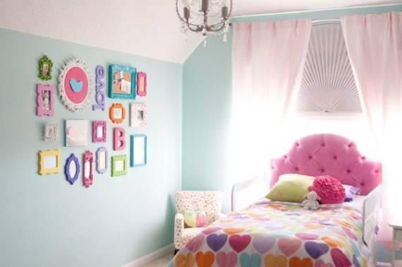 Cores para quarto feminino diferente - rosa e azul