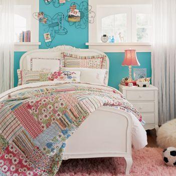 Fotos de quarto feminino azul turquesa com branco