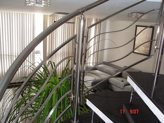 escada de inox