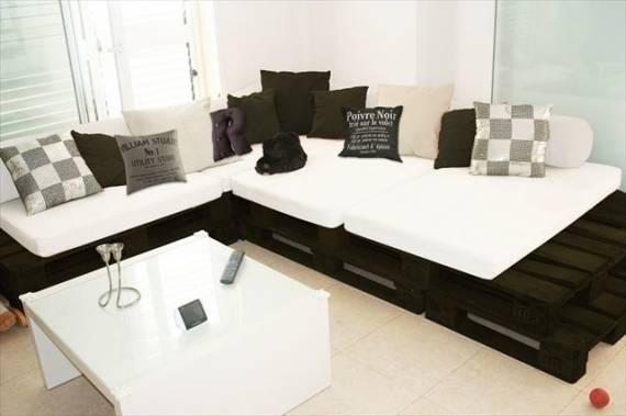 decoracao jardim paletes:Nesse projeto a decoração da sala foi feita toda em branco e preto