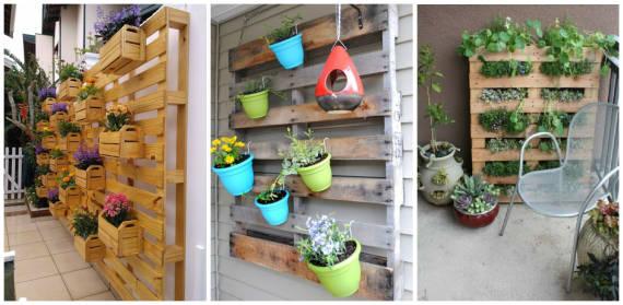 decoracao jardim paletes : decoracao jardim paletes:se você gosta da ideia de jardim vertical, aqui tem mais algumas