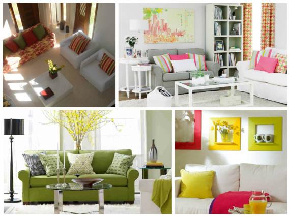 Decoracao De Sala Barata E Simples ~ Cores para sala de estar
