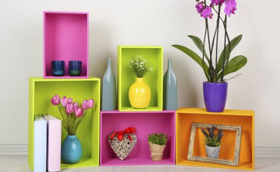 Fotos de decoração de casas simples coloridas