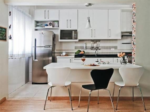 Fotos de cozinhas clean decoradas com enfeites simples