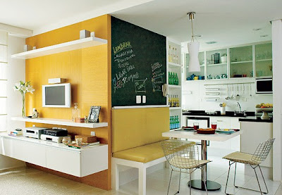Decoração de Cozinhas simples amarelo
