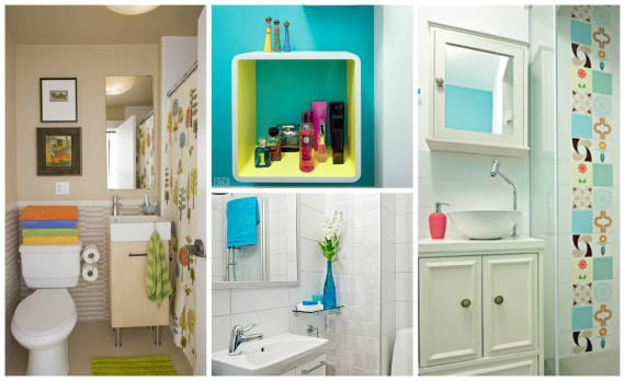 lavabo decoracao barata: objetos coloridos são suficientes para um lavabo lindo e vivo