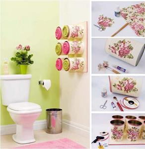 Como fazer enfeite simples e fácil para o banheiro passo a passo